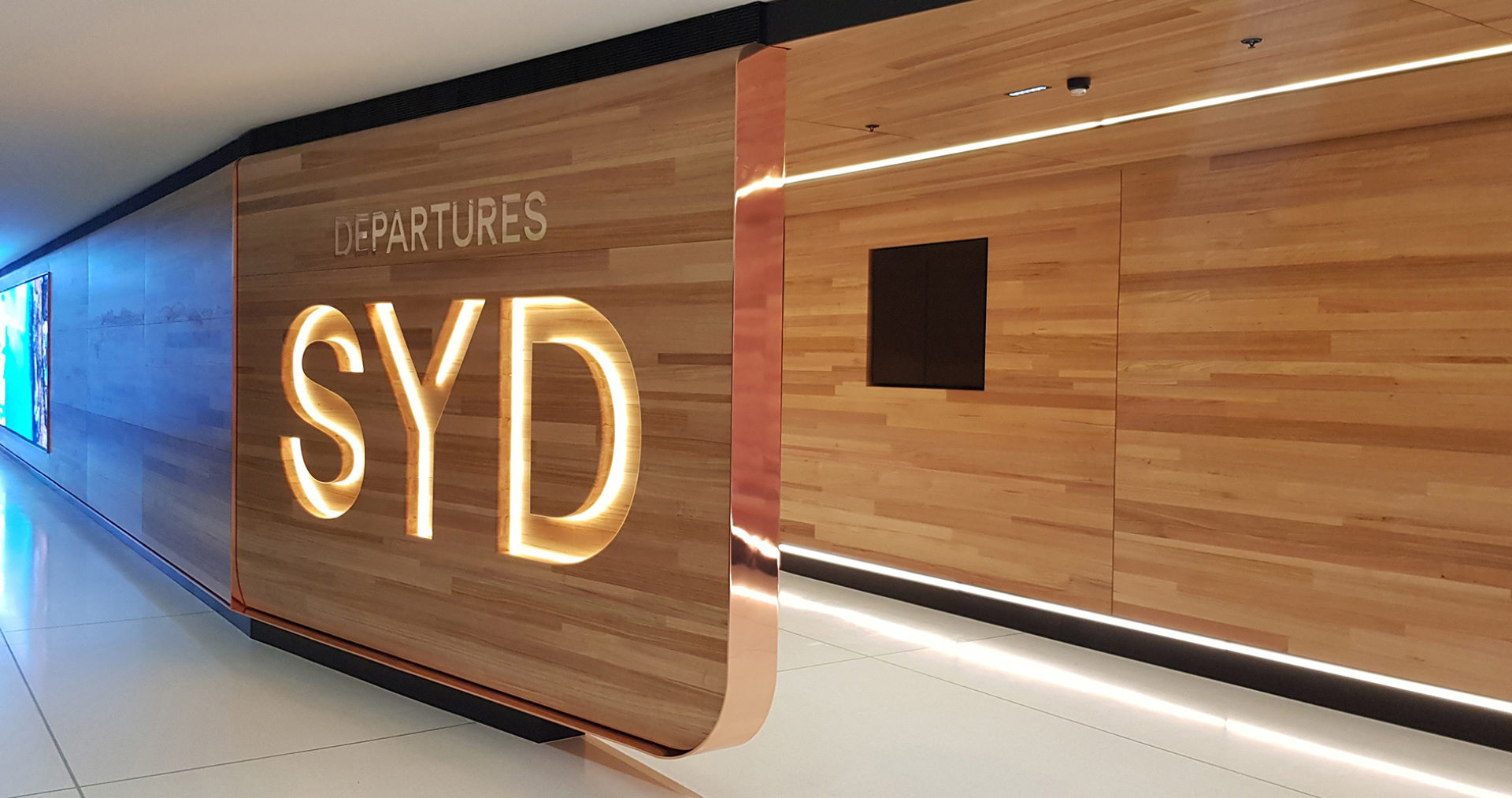 Scarelli Sydney Airport Joinery Departure